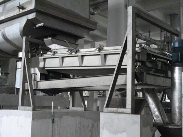 AFY系列方形摇摆筛(平面回转筛)在年产40万吨一水葡萄糖的使用现场