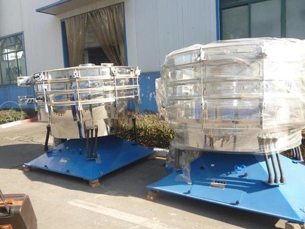 AYBS系列圆形摇摆筛在年产30万吨果糖现场的使用现场